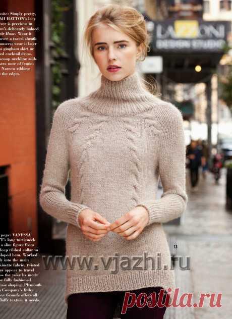 La labor de punto del pulóver Cabled, Vogue el invierno 2014-2015