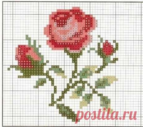 Варианты миниатюрной цветочной вышивки