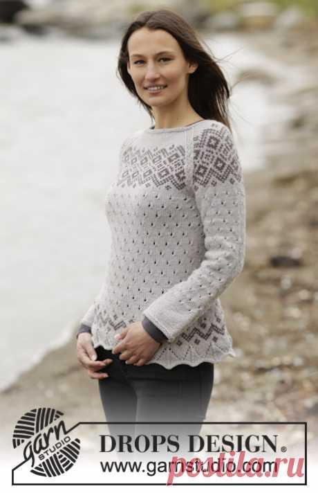 Пуловер Winter Melody - блог экспертов интернет-магазина пряжи 5motkov.ru