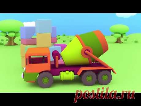Animated cartoons about machines - the Cheerful designer - the Concrete mixer - a Series 12