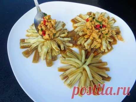 БАКЛАЖАНЫ   фантастические хризантемы! Очень вкусная ЗАКУСКА из баклажанов с мясом от Другой Кухни