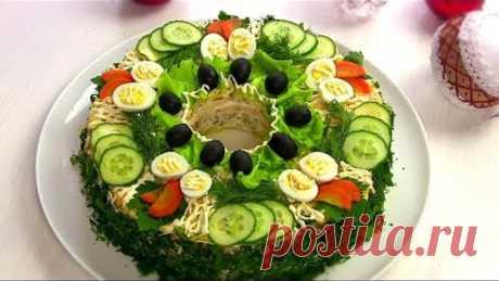 """НОВОГОДНИЙ Салат """"Сытый Барин""""/Мясной Праздничный салат"""