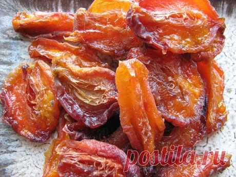 Как персик маленький и грустный стал вяленым и очень вкусным