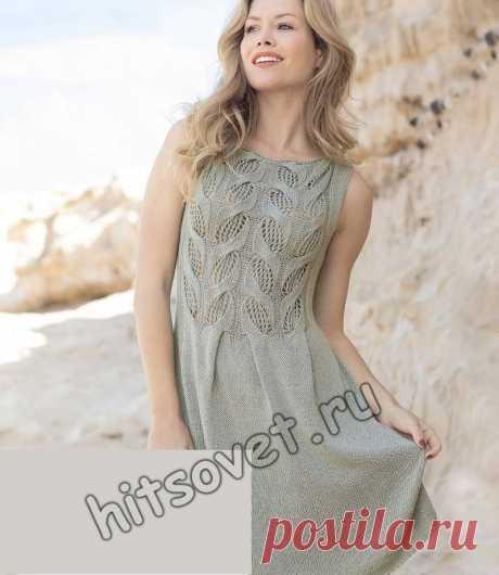 Вязаное модное платье - Хитсовет Красивая модель на лето вязаного модного платья для девушки со схемой и пошаговым описанием вязания.