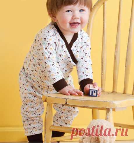 Выкройка пижамы для малышей р. 0-12мес. #выкройки #мастер_класс #шитье #малышам