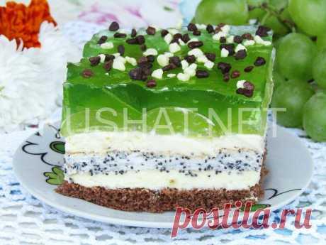 Торт с виноградом и желе «Виноградный остров». Рецепт с фото | Кушать нет
