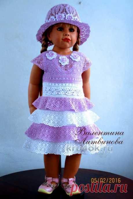 Платье для девочки Юная леди. Работа Валентины Литвиновой