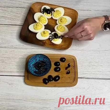 Фаршированные яйца.