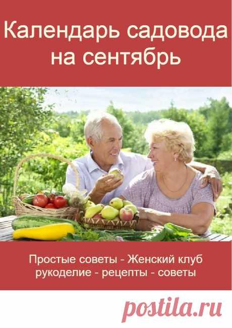 Календарь садовода на сентябрь