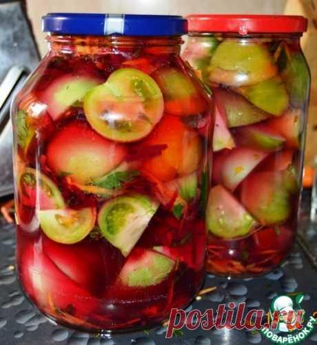 """Зеленые помидоры """"100 граммов"""" Кулинарный рецепт"""
