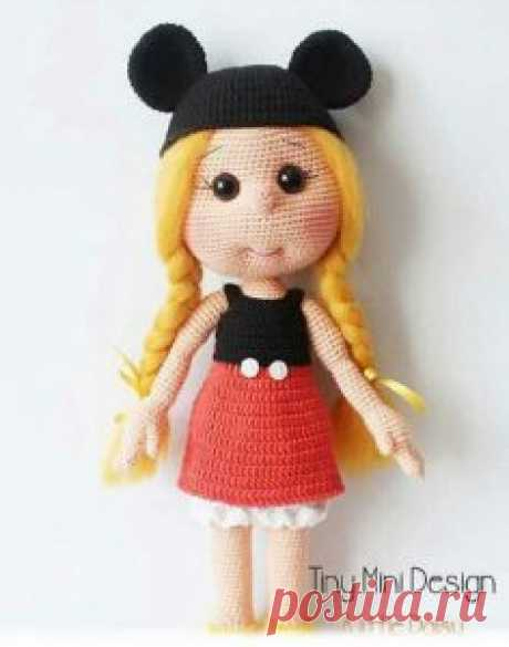 1000 схем амигуруми на русском: Вязаная кукла Дейзи