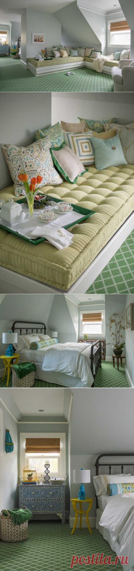 〚 Спальня, утопающая в оттенках зелени и бирюзы 〛 ◾ Фото ◾Идеи◾ Дизайн