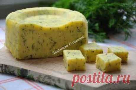 Любимое дополнение к утренней чашечке кофе - Домашний твердый сыр с зеленью Получается именно та структура сыра, которая нравится всем!