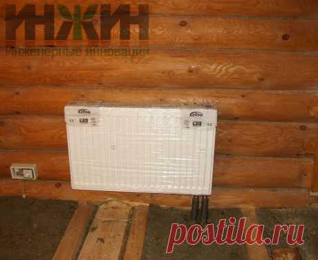 Монтаж радиатора отопления в доме из бревна, фото 591