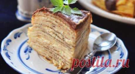 Крепвилль с кремом «Бостон» и шоколадным ганашем, пошаговый рецепт с фото