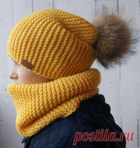 Shapka-bini and snud platochny knitting (Knitting by spokes) | Inspiration of the Needlewoman Magazine