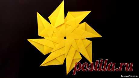 Как сделать звезду из бумаги. Оригами звезда | Оригами