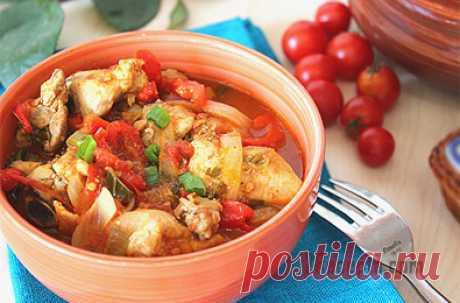 Чахохбили из курицы по-грузински - пошаговый фото рецепт приготовления