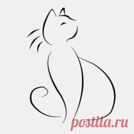 Рисуем с детьми силуэты кошек — Поделки с детьми
