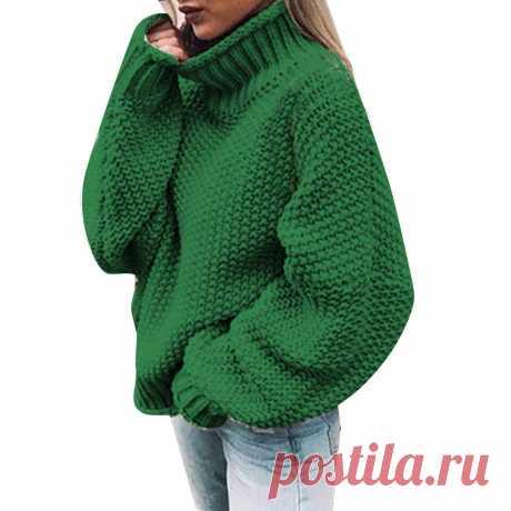 Пуловер вязаный жемчужным узором, описание