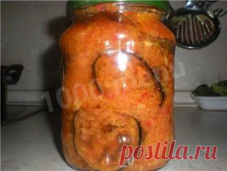 Салат Тещин язык из баклажанов с помидорами на зиму рецепт с фото - 1000.menu