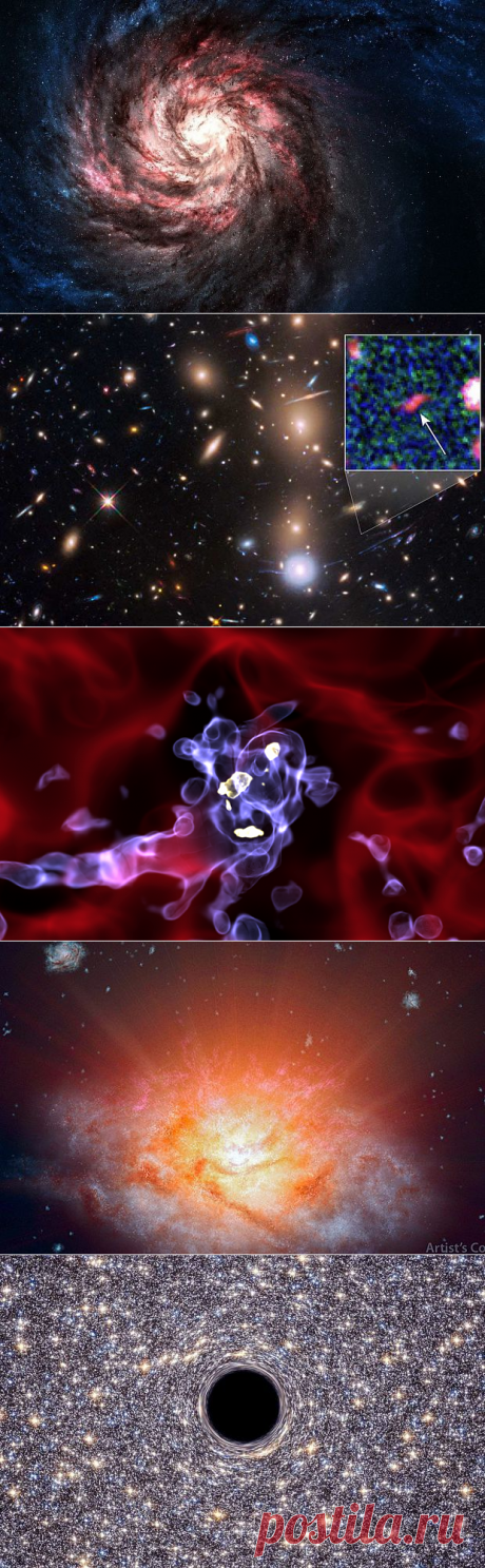 Unusual phenomena of galactic scale over the past few years
