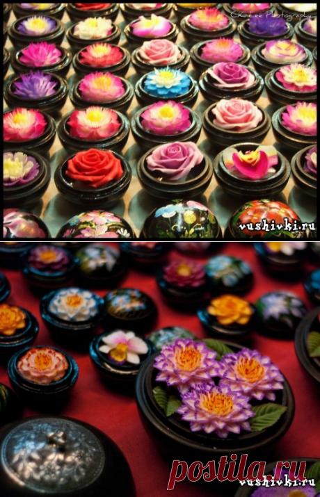 Мыльные цветы » Вышивка, бесплатные схемы вышивки крестом, рукоделье.