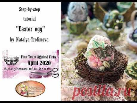 Tutorial Decorative Easter eggs for @Finnabair Art Studio FinnTeamAgainstVirus
