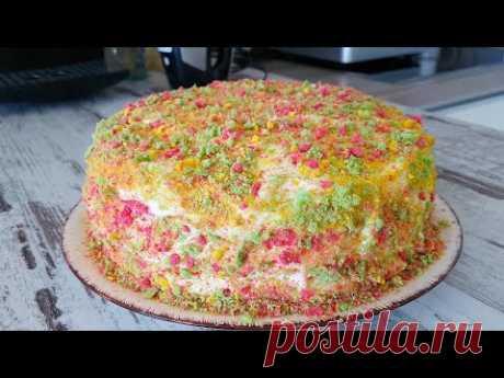 Шикарный и Очень Вкусный  Торт Светофорный Бархат.