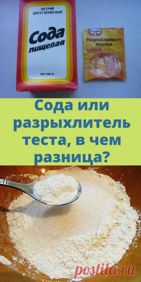 Сода или разрыхлитель теста, в чем разница? - My izumrud