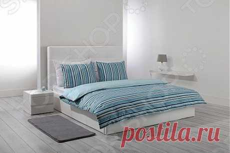 Комплект постельного белья Dormeo Mark Trend. 2-спальный/ Это постельное белье обязательно поселится в вашей спальне! Приятное к телу, сделано из 100% хлопка. Придаст вашей спальне стильный европейский дизайн. Есть 3 цвета: оранжевый, голубой и фиолетовый.