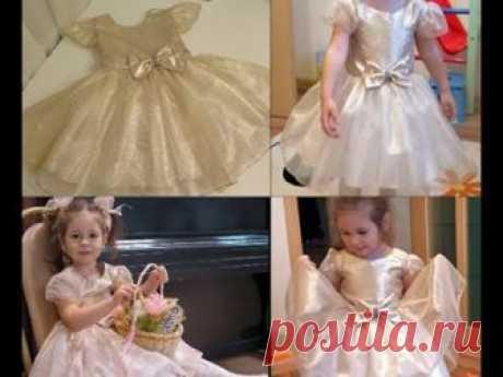 Как просто сшить нарядное платье на девочку. Для начинающих