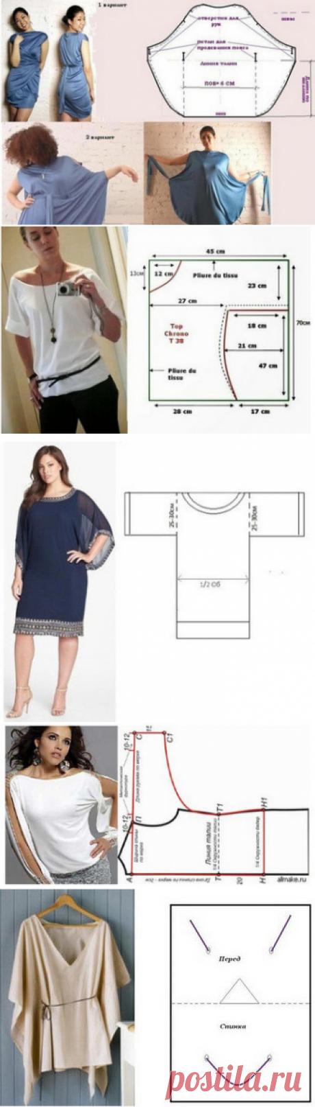 12 цельнокроеных модных выкроек для не умеющих шить! | Тысяча и одна идея