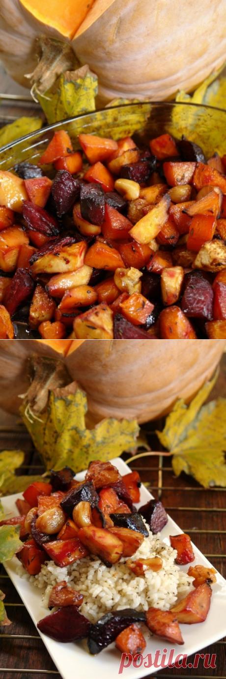Тыква на столе - 3: маринованные овощи, запечённые в духовке