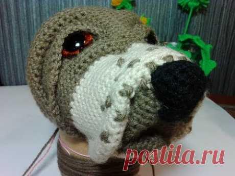 Как связать нос собаке. How to knit a dog's nose. Amigurumi dog. Амигуруми.