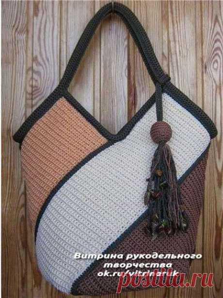 Если Вы вяжете крючком, почему бы не связать себе удобную и неповторимую сумочку. | Люблю Себя