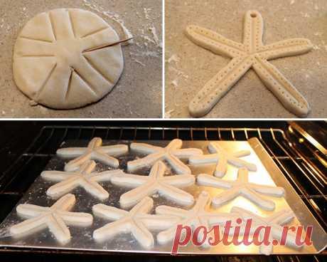 DIY морская звезда соль тесто гирлянда | Chickabug