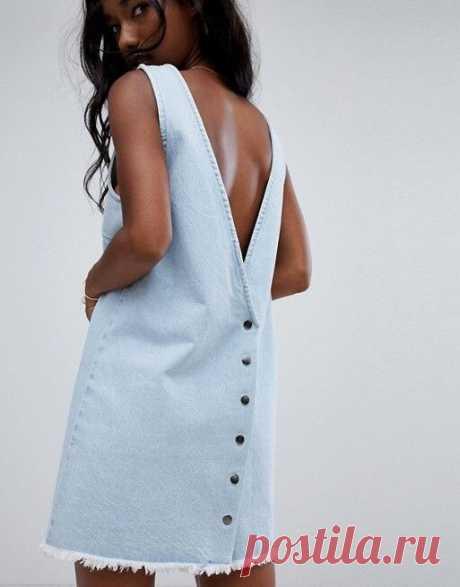 Джинсовый  сарафан - минимализм Модная одежда и дизайн интерьера своими руками