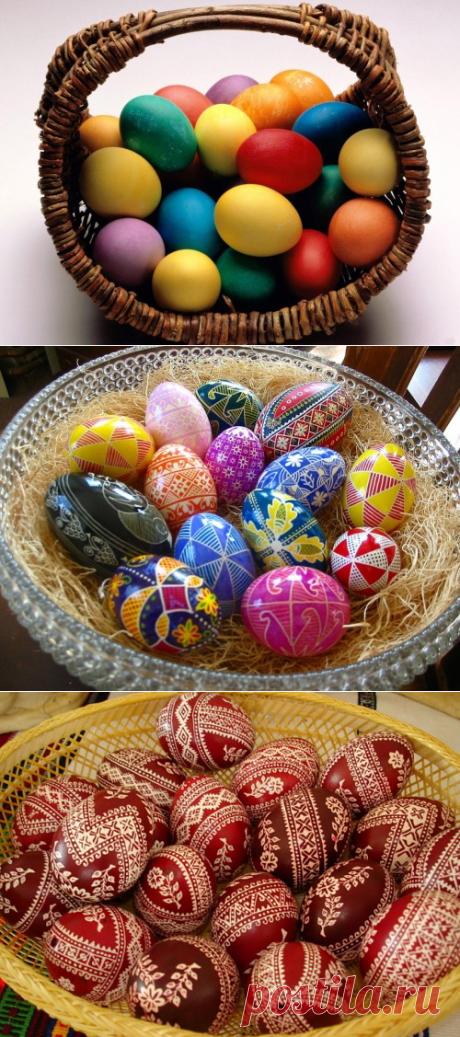 Как красиво покрасить яйца на Пасху? 15 способов окраски яиц — Вкусные рецепты