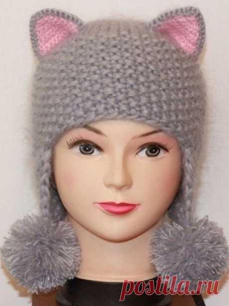 Hat kitty spokes \/ Knitting