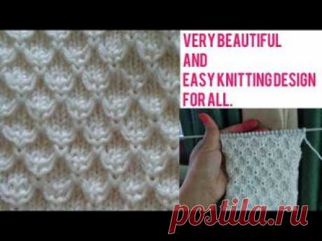 beautiful and easy knitting design/ladies and gent sweater design in Hindi English subtitles 2018. - видео