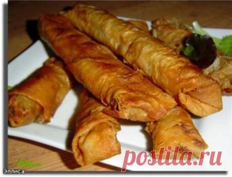 Горячая закуска из лаваша - кулинарный рецепт