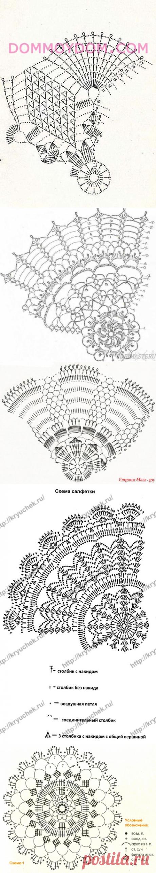 Схемы вязания салфеток крючком