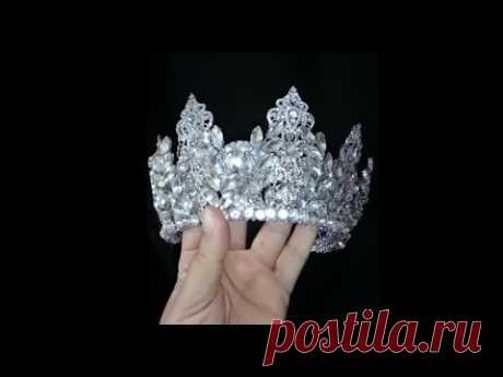 How to make wedding crystal crown - DIY