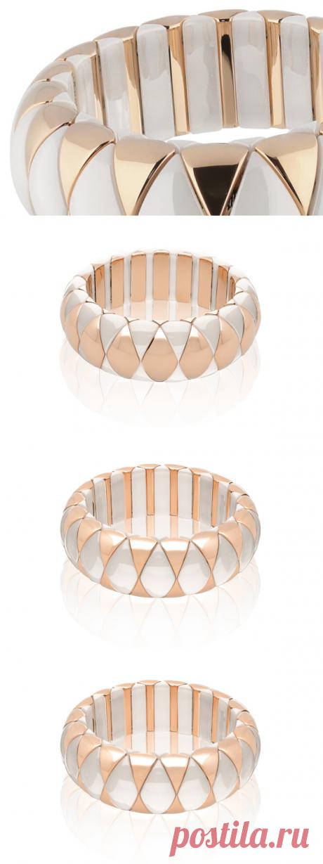 Elastic Aura Diva Large Bracelet in high tech ceramic - Aura