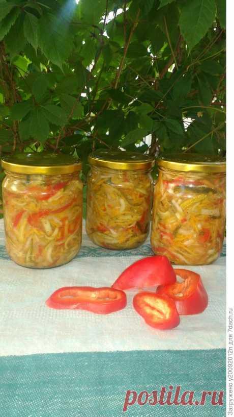 """Овощной салат """"Яркое лето"""" на зиму. Пошаговый рецепт приготовления с фотографиями"""