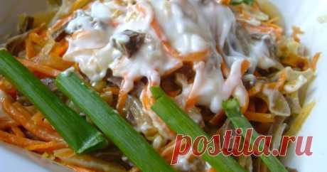 Салат из сердца с корейской морковкой - пошаговый рецепт с фото. Автор рецепта Людмила  🌳  . Салат из сердца с корейской морковкой - пошаговый рецепт с фото. Легкий, нежирный и вкусный салатик. Готовится легко, основное время уходит на то, чтобы отварить сердце. Если это сделать накануне, собирается очень быстро.