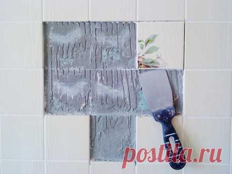 Как приклеить на стену отошедшую кафельную плитку