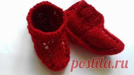 Детские носочки на 2х спицах