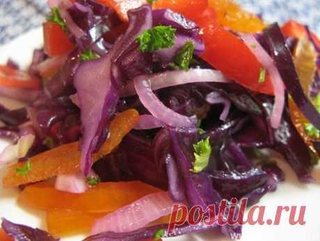 Краснокочанная капуста на зиму - рецепты с фото. Как приготовить краснокочанную капусту на зиму в банках